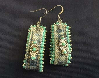 Southwest Earrings in Denim