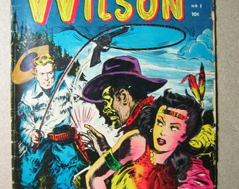 Whip Wilson Comic Number 1, Vintage Comic Book, 1950s, Wild West, Gunfights, Old Comics, Collectible Comics, Cowboy, Paper Ephemera, Comics