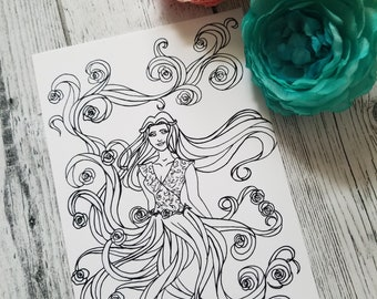 Margaery Postcard Coloring Page