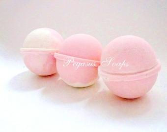 3 Pink Lemonade Bomb Fizzy Relaxing Bath, Fizzy Bath, Handmade Bath Bomb, Birthday, Vegan Friendly