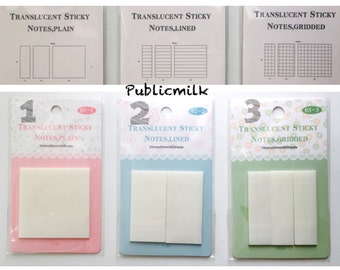 Memo Sticker, Transparent Memo, Page Flags, Die Cut Sticky Note, Transparent Page Flags, Point Marker