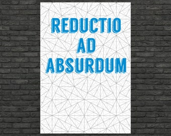 Science art - Mathematics - Reductio ad absurdum & Pinwheel tilings poster typographic prints on paper or canvas up to A0 size