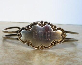Vintage Sterling Silver Cuff Name Bracelet