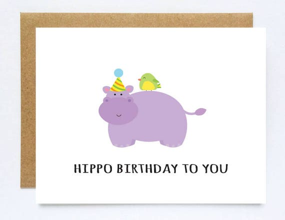 Funny birthday cards hippo birthday hippo gifts cheesy like this item bookmarktalkfo Image collections