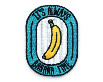 Banana Time Iron On Patch