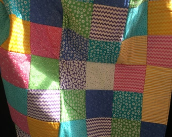 Colourful Square Lap Blanket
