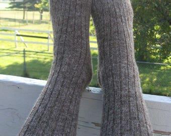 Large Alpaca Socks, Dark Brown Wool Sox, Grown in Michigan, Great Men or Women's Valentine's Gift