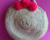 Pom Pom Straw Bag Fashion...