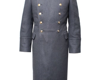 Soviet Army Parade gray Overcoat of Russian military Officers Long woolen coat