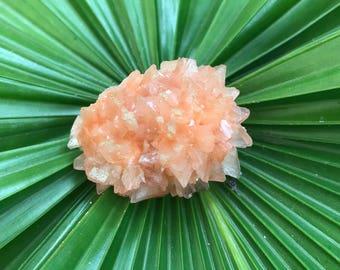Striking Dark Peach Hullendite/ Heulandite/ Hollandite Flower Crystal.