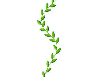 Branch with Leaves Embroidery Design - Instant Download