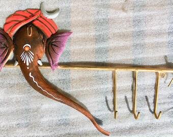 New GANESHA KEY HANGER, Hindu God Ganesha Design Key Hook, Elephant God Ganesha Key Holder