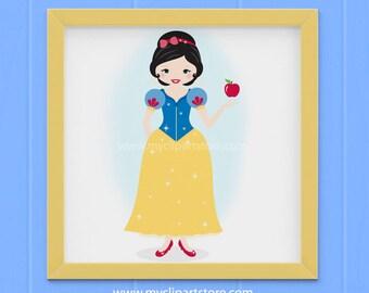 Clipart - Snow White / Princess Clip Art / Digital Clipart - Instant Download