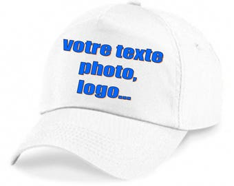 Hat personalized with photo and / text