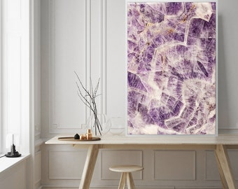 Mineral Photography - (Print #017) Amethyst -  Fine Art Print - Two Paper Choices- Mineral Geode Agate Crystal Decor