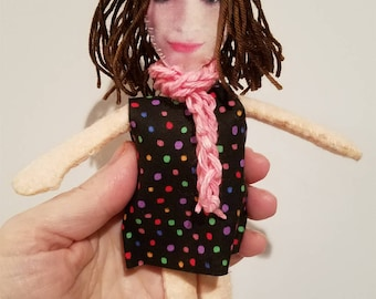 Personalized Look-a-like Mini-me Felt Photo Dolls