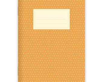 Notebook Stapled A5 Dots Orange