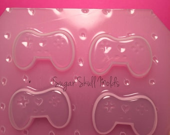 4pc Mini Kawaii PS3 Game Controller Inspired Flexible Plastic Mold For Resin Crafts Decoden