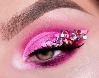 Pink Unicorn Mix Glitters For Face & Body | Festival And Party Chunky Glitter | Beauty Makeup Accessories Holiday Birthday | Face Jewels