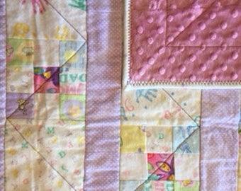 Newborn | girl | pink | reversible blanket