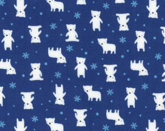 Minny Muu '16 Navy Bears 40672-71 by Lecien Cotton Fabric Yardage