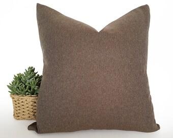 Brown Herringbone Pillow, Cabin Pillows, Cushion Covers, Couch Cushion, Sofa Pillow,  Mens Pillows, Man's Decor, Washable, Zipper, 20x20