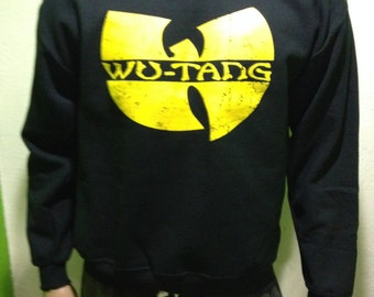 Wu-Tang Distressed Logo Mens Sweatshirt Sweater Crewneck