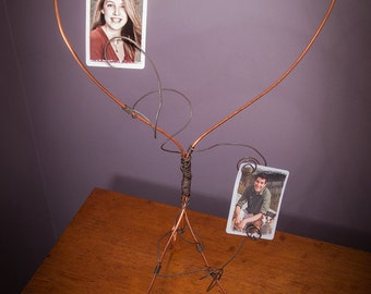 Copper Wire Heart Frame  | Valentine's Day | Copper Frame | Copper Sculpture | Wire Art | Wire Frame | Copper Art | 3D Frame | 3D Sculpture