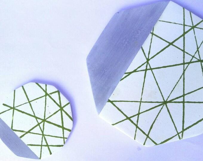 Concrete coaster | concrete trays coasters decorative dish | concrete design deco | handmade concrete design | christmas gift idea home deco