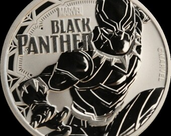 2018 Tuvalu Marvel Black Panther Silver One Dollar Coin
