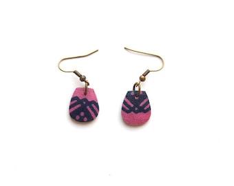 wax and coconut earrings