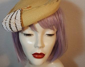 FREE  SHIPPING 1950 Bead Mini Hat
