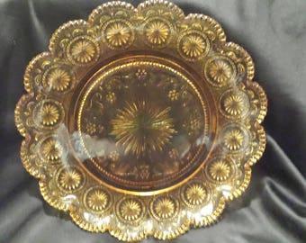 Brockway Glass American Concord Plates set of 2