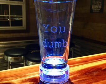 Laser Engraved Pint Glass - Laser Etched Pint Glass - Custom Pint Glass