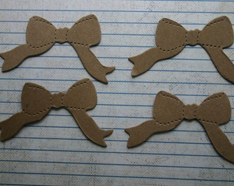 4 Bare chipboard die cuts bow Diecuts