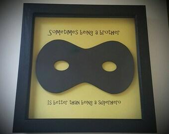 Superhero brother mask frame children's gift