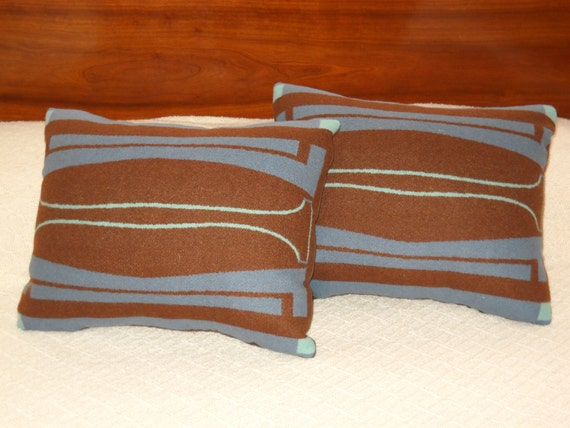 Wool Decorative Pillow / Accent Pillow / Rustic Pillow 16 x 13