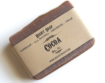 Vegan Soap Homemade Natural Soap Unscented Stocking Stuffer Gift for Grandmother Cocoa Soap Handmade Dry skin Soap Cold Process Soap