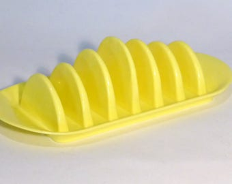 Embee Toast rack in yellow plastic – original from the 1950s
