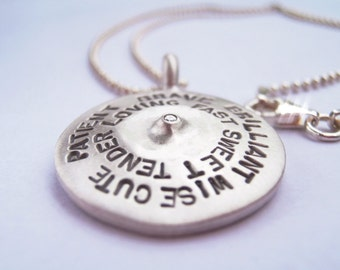 Love Necklace Sterling Silver and diamond