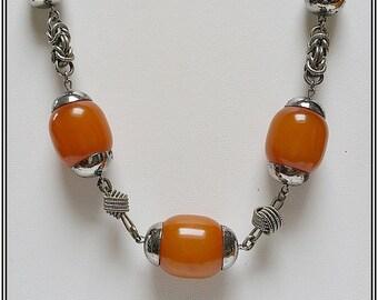 Modernist unsigned JAKOB BENGEL component necklace