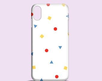 Colour shapes iPhone X case / iPhone 8 / bright iPhone 7 / white iPhone 6S / graphic iPhone 6 / minimalist iPhone 6 case / iPhone 7 Plus