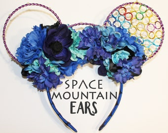 Sadness Inspired Floral Mickey Ears