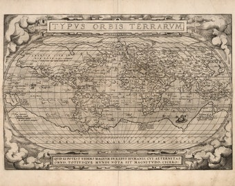 Antique world map etsy popular items for antique world map gumiabroncs Images