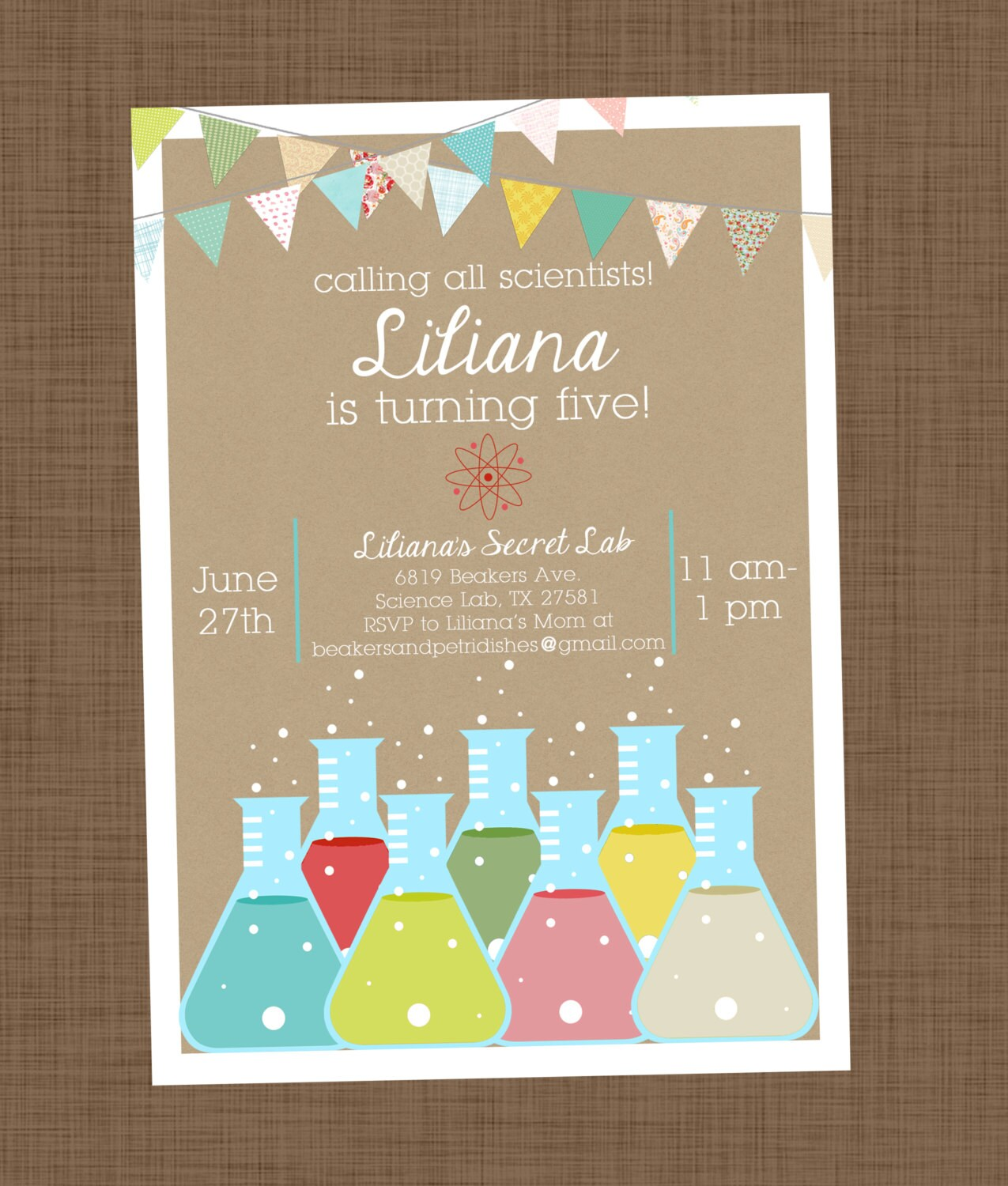 Amazing Science Party Invitations Pictures Inspiration ...
