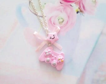 necklace kawaii controller polymer clay