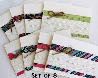 Birthday Cards Handmade, Happy Birthday Card Set, Birthday Cards Bulk, Cards Birthday, Handmade Birthday Card, Set of Cards