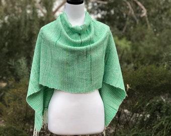 Handwoven Women's Suri Alpaca & Wool Poncho, Ethical Clothing