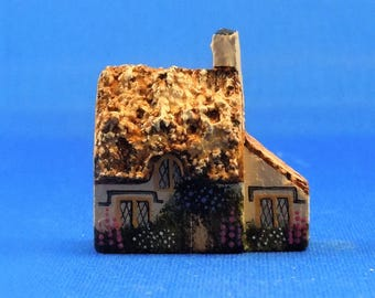 Dollhouse Miniature Accessory; English cottage style wood house for the dollhouse in 1:12 scale; twelfth scale. Item #D239.