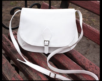 White crossbody purse White bag White small purse Mini bag Crossbody hobo bag Small shoulder bag White clutch purse Shoulder purse
